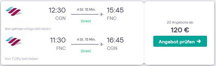 Flugsuche Deutschland nach Funchal