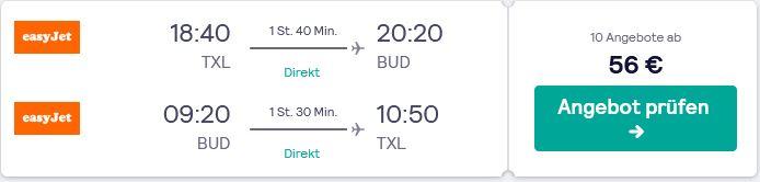 Mit dem Flugzeug von Berlin nach Budapest