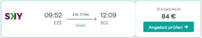 Mit SkyAirline guenstig und schnell von Buenos Aires nach Chile