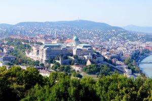Ausblick auf Burgpalast Gellertberg Budapest Insidertipp