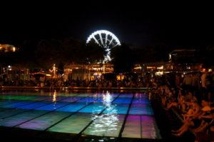Elisabethplatz bei Nacht Bars und Party
