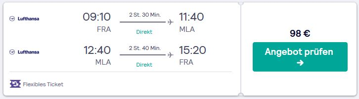 Flug Tipps guenstig nach Malta