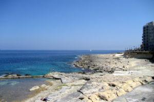 Sliema Tipp Felsstrand Malta