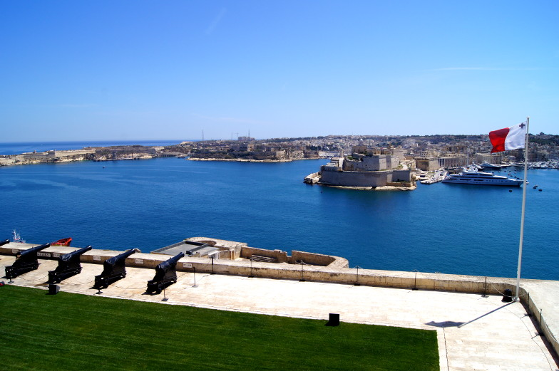 Tipp schöner Ausblick von den Upper Barrakka Gardens in Valletta Malta