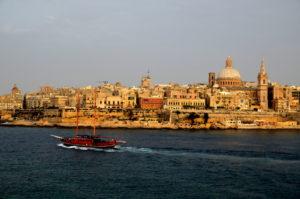 Blick auf Valletta Weltkulturhauptstadt Malta