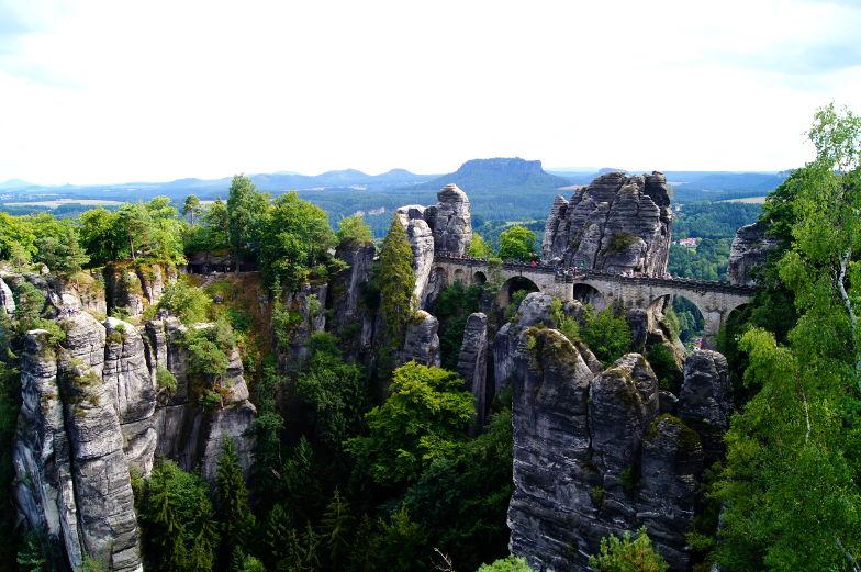 Reiseziel Bastei eine Felsformation in Deutschland
