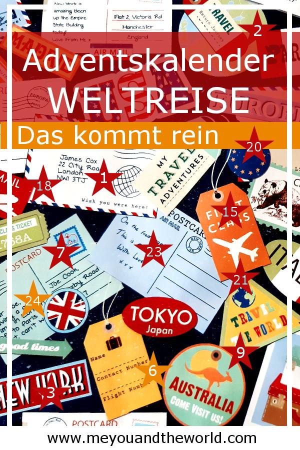 Weltreise Adventskalender die richtige Füllung für Reisebegeisterte