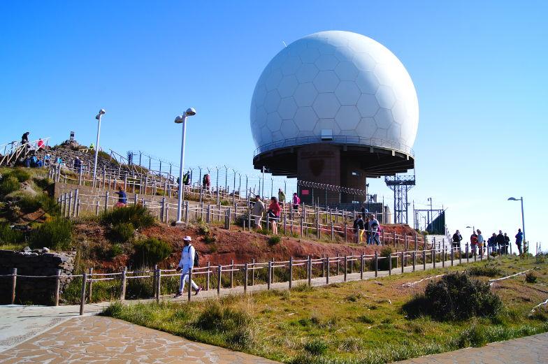 Radarstation am Pico Arieiro Madeira Ost Tour